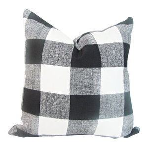 Buffalo Plaid Pillow Cover, Black and White