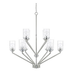 Capital Lighting Camden Polished Nickel 10-Light Chandelier