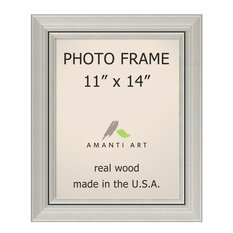"Picture / Photo Frame 11""x14, Romano Silver, Outer Size 15""x18"""