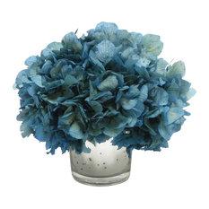 Most popular transitional artificial flowers for 2018 houzz bougainvillea mercury glass votive blue hydrangea artificial flower arrangements mightylinksfo Images