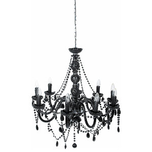 Pachyderme Jewel 9-Arm Chandelier, Black