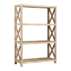 East At Main's Bradford Brown Rubberwood Bookcase