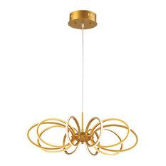 Tela, 10-Light LED Pendant, Gold