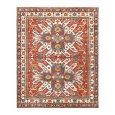 "Pasargad Kazak Collection Hand-Knotted Wool Area Rug- 7'11"" X  9'10"""