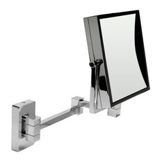 """ALFI 8"""" Square Wall Mounted 5x Magnify Cosmetic Mirror"""