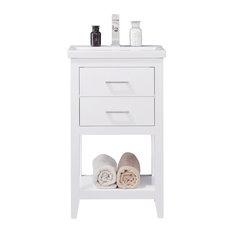 "Cara 20"" Single Sink Vanity, White"