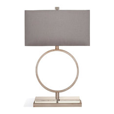 Bassett Mirror Halle Table Lamp in Antique Silver Leaf Finish