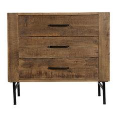 Bristol Reclaimed Pine Three Drawer Dresser