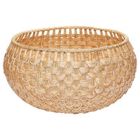 Large Fish Scale Basket, Natural