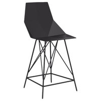 Vondom Faz Indoor/Outdoor Counter Stool, Black