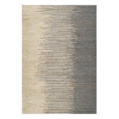 Natural Striped Flamestitch Jute Rug, Gray, 6'x9'