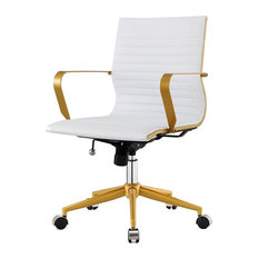 Meelano Otis Office Chair Luxe White Chairs