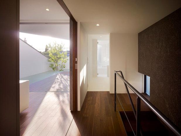 Architektur Ein Japanisches Haus Mit Blickgeschtzter