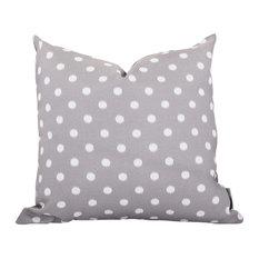 Outdoor Gray Ikat Dot Large Pillow