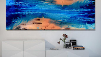 """Abstract Painting """"Beach 2"""" by Artist Dora Woodrum"""