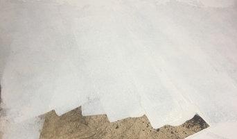 marble tile job progress