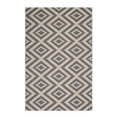 Jagged Geometric Diamond Trellis 5x8 Indoor and Outdoor Area Rug by Modway