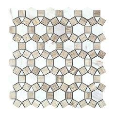 "11.5""x12"" Milano Aether Loft Stone Mosaic, Set of 10"