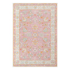 "Momeni Anatolia Machine Made Wool and Nylon Pink Area Rug, 9'9""x12'6"""