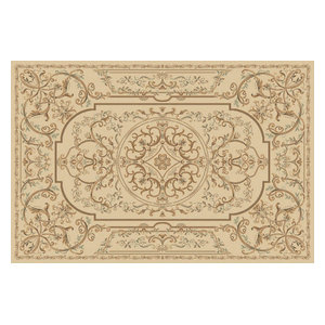 Kamira Beige Rectangular Traditional Rug, 170x240 cm