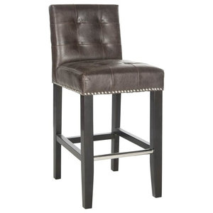Thompson Counter Stool in Espresso and Brown