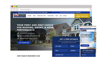 First American Roofing Website Design & Development