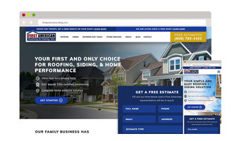First American Roofing Website Design & Development