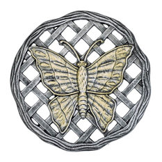 Butterfly Stepping Stone in Antique Pewter Finish - Set of 6