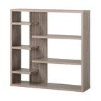 Homestar 6 Shelf Storage Bookcase, Reclaimed Wood