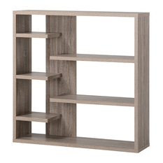 HOMESTAR NORTH AMERICA LLC - Homestar 6 Shelf Storage Bookcase, Reclaimed Wood - Bookcases