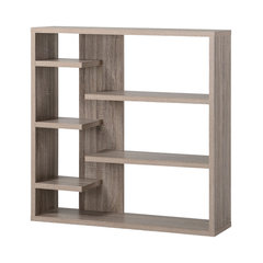 Homestar 6 Shelf Storage Bookcase, Reclaimed Wood