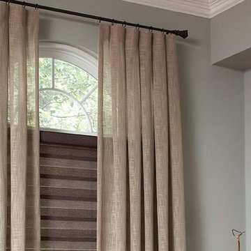 Sheer Linen Beach Style Curtains & Draperies of Indianapolis- Custom Styles at A