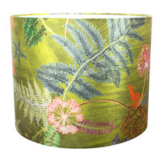 Now That's Something Lime Green Floral Lampshade For Table Lamp, Small