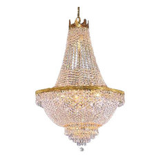 French wire basket chandelier houzz the gallery french empire crystal chandelier 9 light chandeliers aloadofball Images