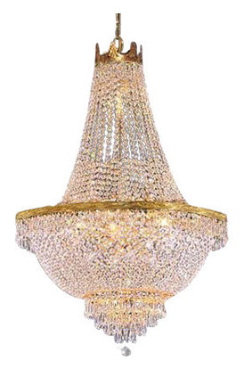 Marvelous French Empire Crystal Chandelier 9 Light