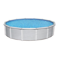 Blue Wave Products, Inc - Blue Wave Samoan Round 52 Inch Above Ground Pool - 27 ft - Aboveground Swimming Pools