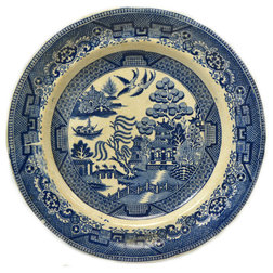 Fresh Traditional Decorative Plates Consigned Blue White Willow Dinner Plates Antique English th