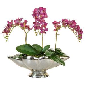 Artificial Phalaenopsis Orchid, Dark Pink