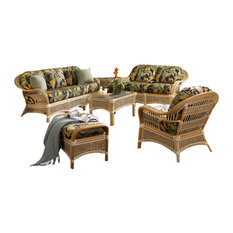 Islander 6-Piece Living Room Furniture Set Natural Adobe Fabric