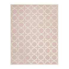 "Safavieh Kayden Hand Tufted Rug, Light Pink and Ivory, 108""x144"""