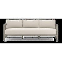 "87.5""W Amar Outdoor Sofa 3 Seater 100% Olefin Cushions Solid Teak Frame"