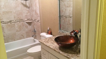 bathroom and fireplace update