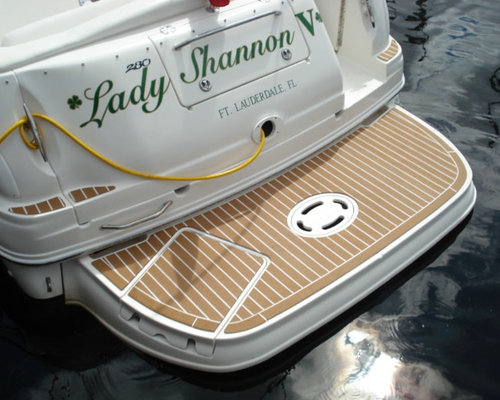 Synthetic Teak Pontoon Boat Decking-The Best Boat Deck Material