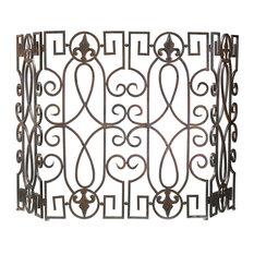 Decorative Wrought Iron Fire Screen