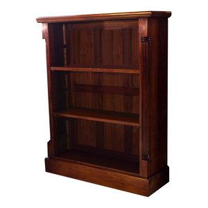 3 Shelf La Roque Mahogany Low Open Bookcase