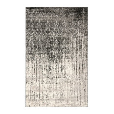 Studio Seven Retro Rug, Black/Light Gray, 6'x9'