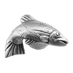 Sierra Lifestyles SL-681337 Right Fish Cabinet Knob, Pewter