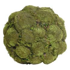 Artificial Decorative Moss Ball Faux Botanicals, Set of 2