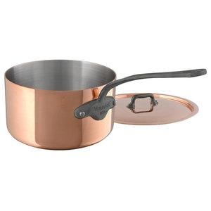 Mauviel M'150C2 1.2 -Quart Saucepan With Lid, Cast Iron Color Handle