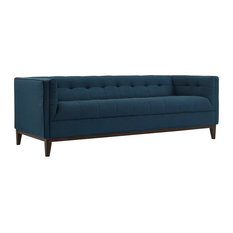 Serve Upholstered Fabric Sofa Azure